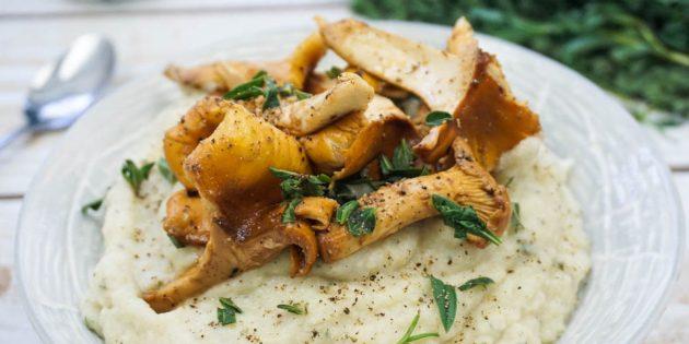 Картофельное пюре с лисичками