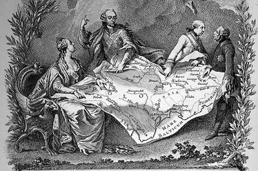 Аллегория на первый раздел Речи Посполитой. Жан-Мишель Маро, 1773 год
