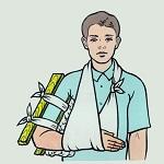 Первая мед помощь при переломе руки